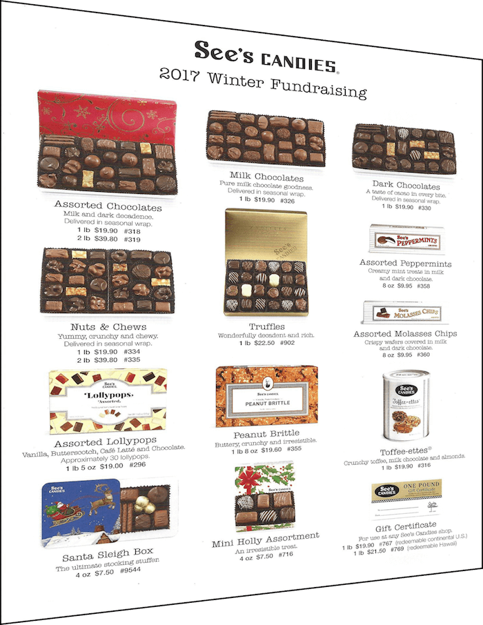 Sees Candies Fundraiser